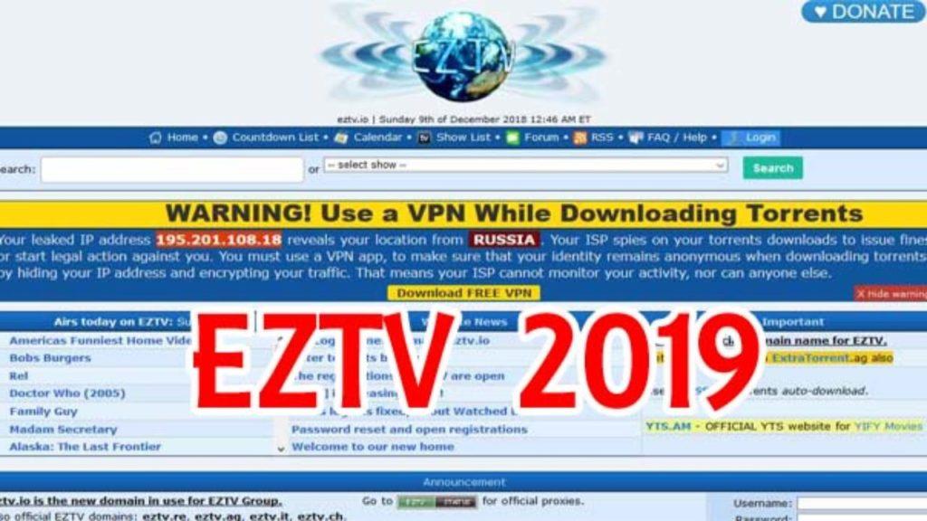 EZTV ag 2019